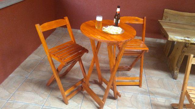 Bistrô dobrável com duas cadeiras - Foto 4
