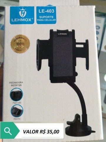 Suporte Para Celular Veicular Trava Automática Super Fixação - Foto 5