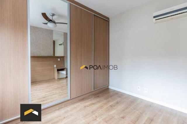 Apartamento com 3 dormitórios para alugar, 96 m² por R$ 3.600,00/mês - Petrópolis - Porto  - Foto 17