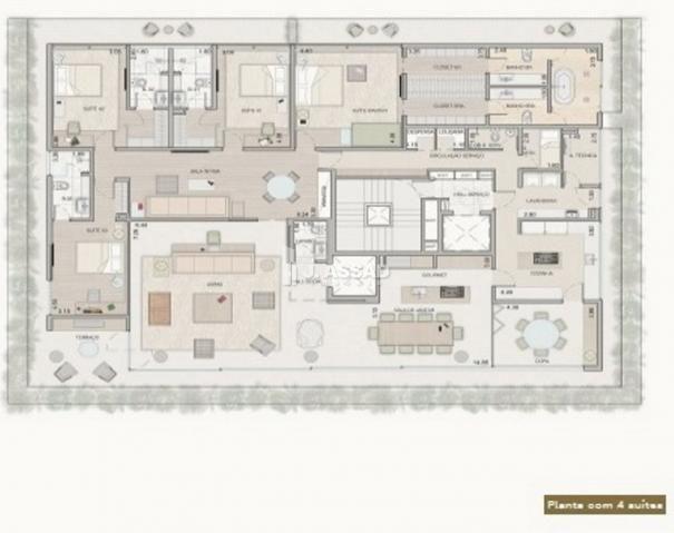 Apartamento à venda com 4 dormitórios em Cabral, Curitiba cod:AP0100 - Foto 20