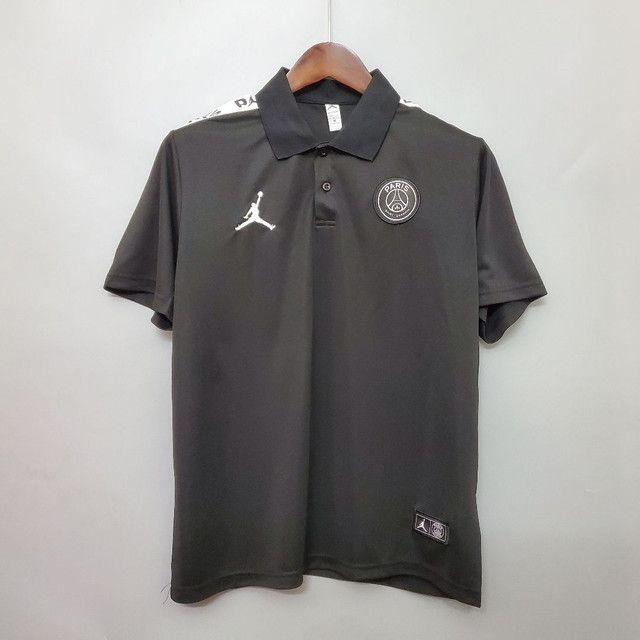 Camisa polo PSG 20/21 Preta, lançamento camiseta Psg - Foto 2