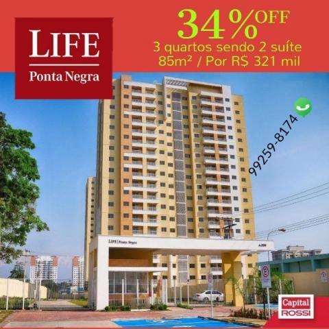 Super Promoção Life Ponta com 34% Desconto/Apto 85m² pronto 2 suite