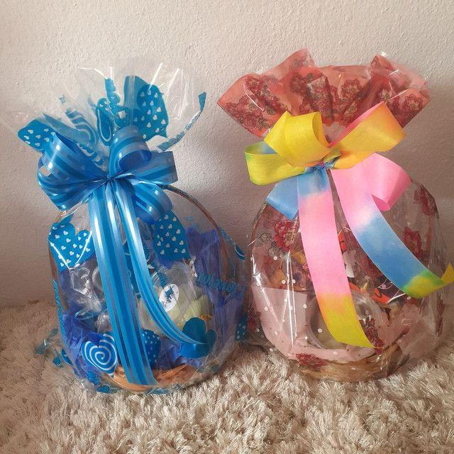 cestas decoradas p funcionários panificadoras - Foto 2