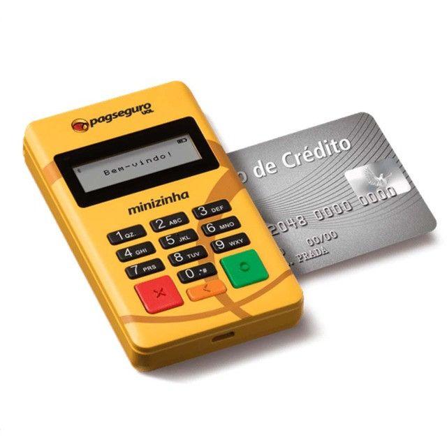 Minizinha PagSeguro Leitor de Cartão de Débito e Crédito Bluetooth - Foto 4