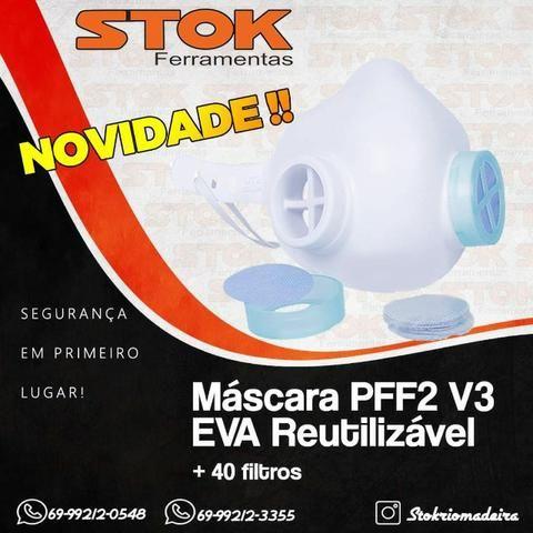 Máscara Injetada PFF2 N95 V3 + 20 pares de Filtros Health - Foto 2