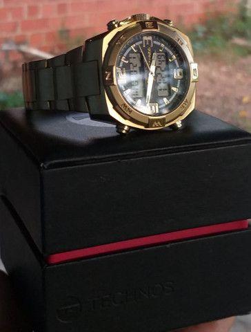 Relógio de ouro original da Technos. - Foto 5