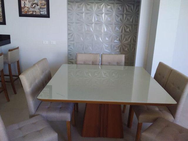 Sala de jantar quadrada de 8 lugares nova completa pronta entrega - Foto 3