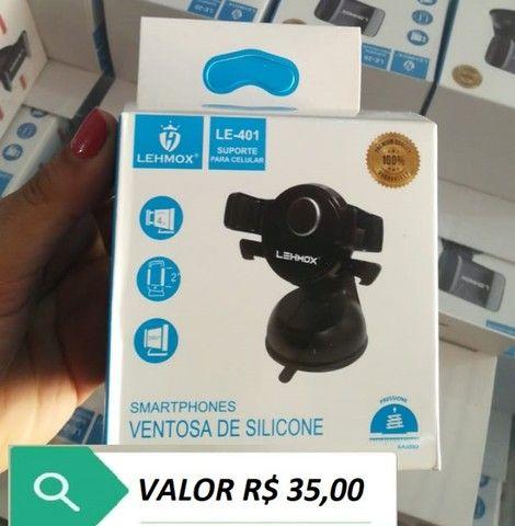 Suporte Para Celular Veicular Trava Automática Super Fixação - Foto 2