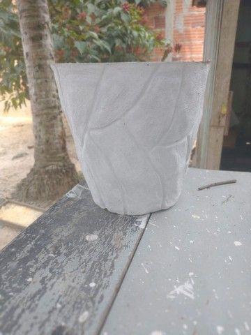 Vasos de cimento artesanal  - Foto 4