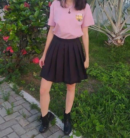Saia Preta Colegial Egirl Lisa