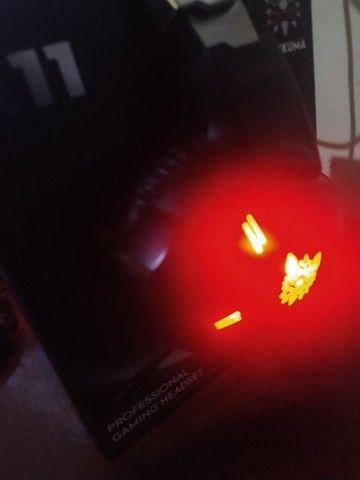 HEADSET GAMER PARA CELULAR E PC COM LED  - Foto 4
