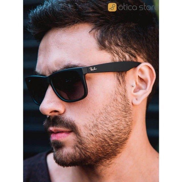 Óculos de Sol Ray Ban Masculino Esportivo Modelo Justin  - Foto 4