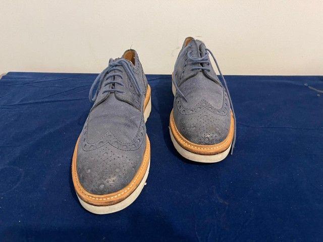 Sapatos ingleses, azul marinho, Grenson, linha esportiva, solas de borracha.  - Foto 5