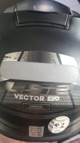Capacete LS2 Vector FF397 Evo Razor preto/cinza fosco (Tri Composto) TAM 56 - Foto 3