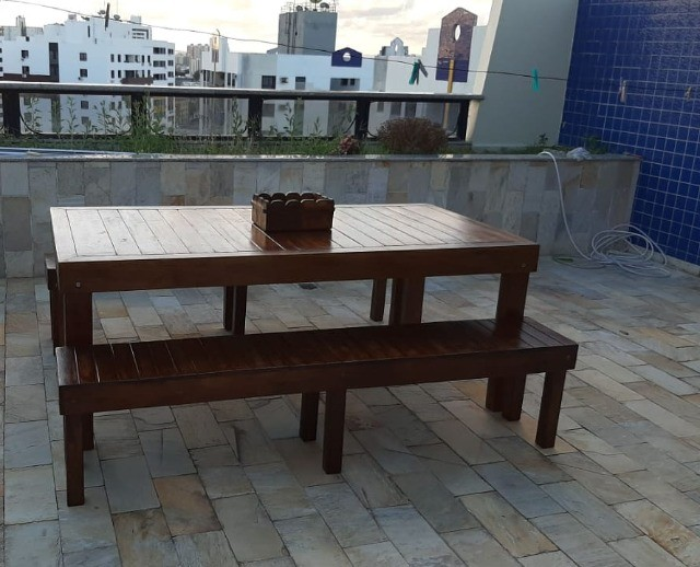 Madeira Maciça - Mesas Rústicas Produzidas sob Medida - Foto 6