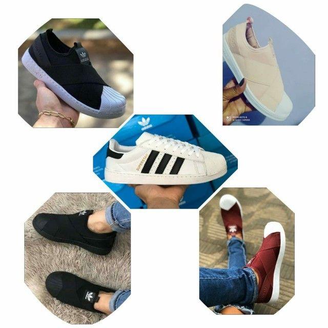 Vendo tênis Adidas super star e slip on elástico ( 115 com entrega) - Foto 2