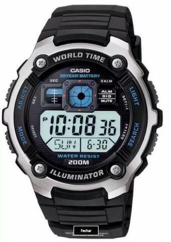 87b9b707f10 Relógio Masculino Digital Casio Ae-2000w-1avdf Novo 100% Original ...