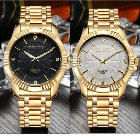 70e2250843b Relógio masculino chenxi banho à ouro barato(aceitamos cartões de crédito e  débito)