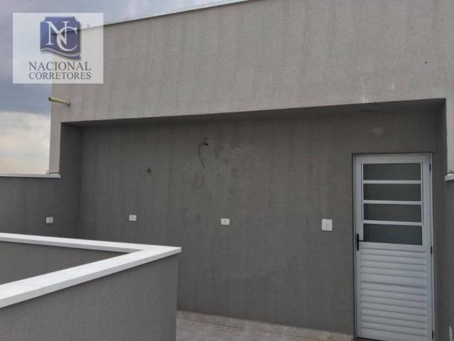 Cobertura com 2 dormitórios à venda, 80 m² por r$ 250.000 - parque erasmo assunção - santo