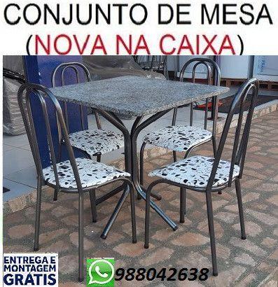 Preço Bom Demais!!Conjunto de Mesa 4 cadeiras Nova Apenas 449,00(Entrego e Monto)
