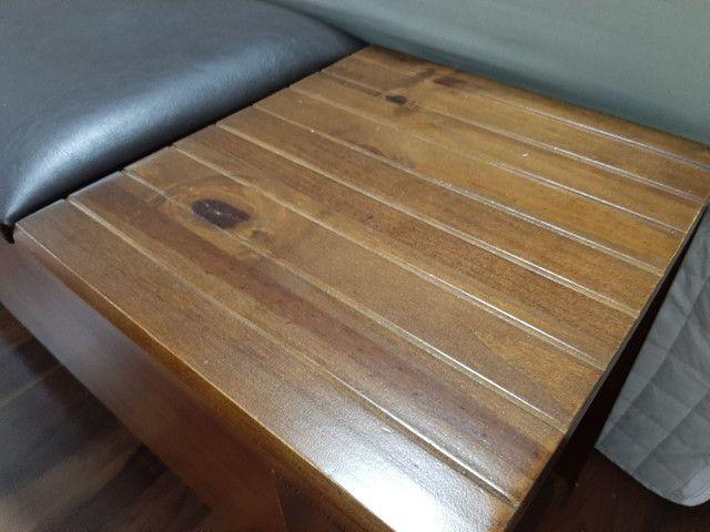 Recamier baú em madeira com couro sintético  - Foto 4