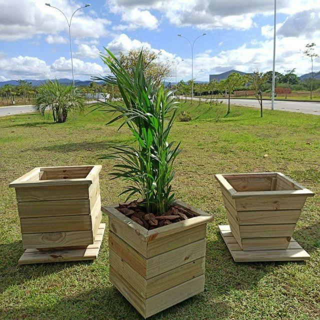 Vasos de madeira tratada
