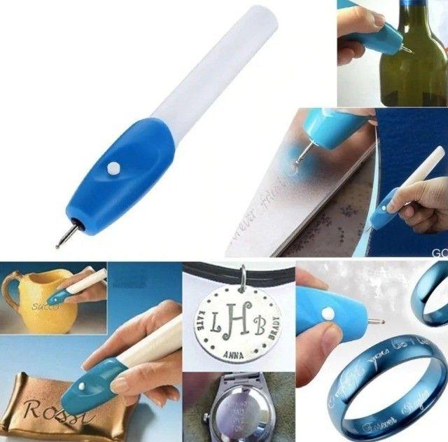 Caneta Gravadora Peças Para Gravar Em Objetos De Plástico, metal, madeira, vidro etc