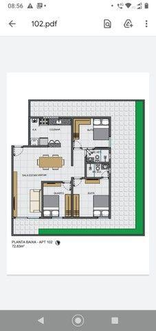 Apartamento 02 quartos Bancários com Varanda pé direito duplo Frente rua - Foto 14