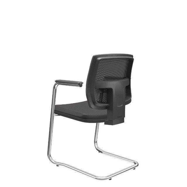 Cadeira Plax base cromada nova presidente - Foto 2