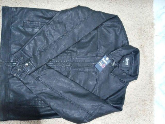 Jaqueta de couro original, marca ARNOLD ITALY  STYLE - Foto 5