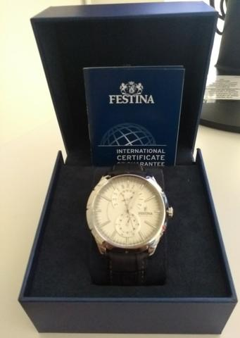 903727b01fc Relógio Festina Modelo F16573 1 Novo - Bijouterias