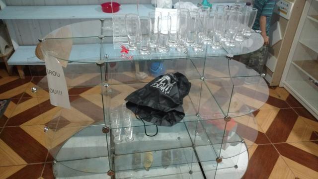 Expositor de vidro 2 pç