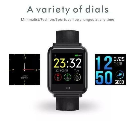 9ad330d84 Smartwatch Q9 Frequência Cardíaca o melhor para sua saúde