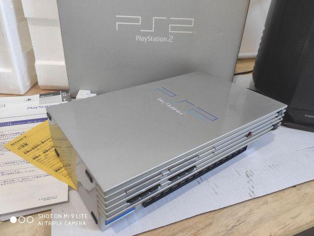 PS2 FAT cinza JP na caixa - Foto 3