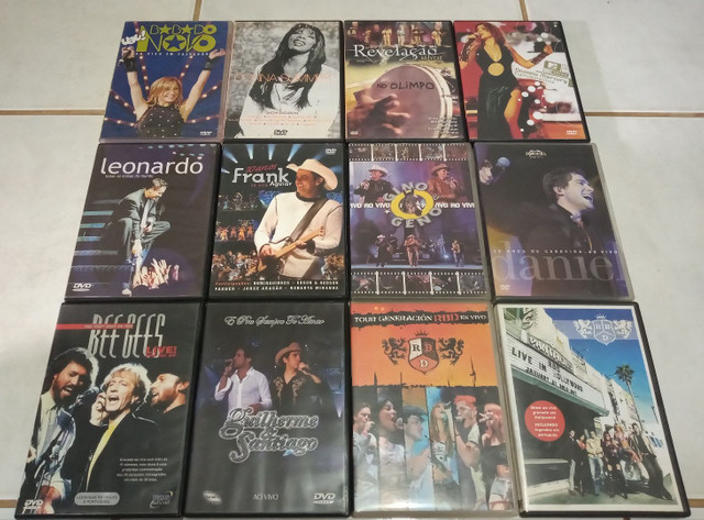 DVDs Musicais - Troco por jogos de videogames