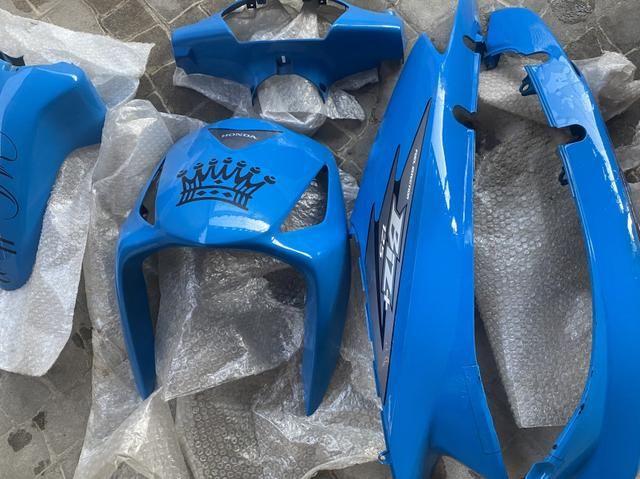 Carenagem biz+125 azul personalizada original 2006 à 2010