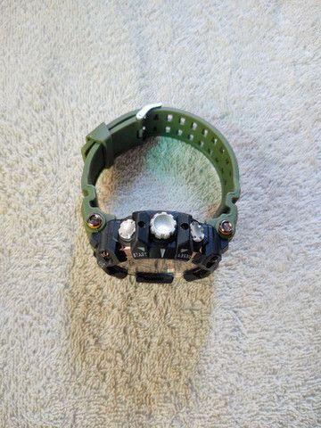 Relógio Smael Sport Militar Verde - Foto 5
