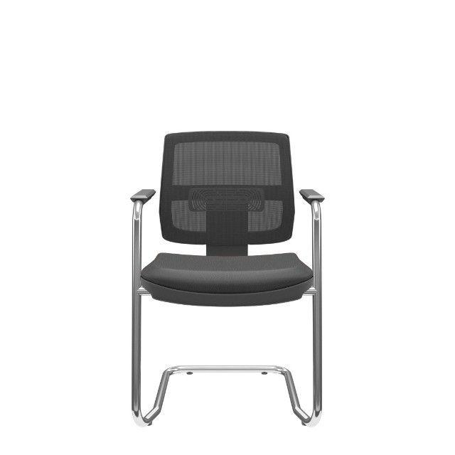 Cadeira Plax base cromada nova presidente
