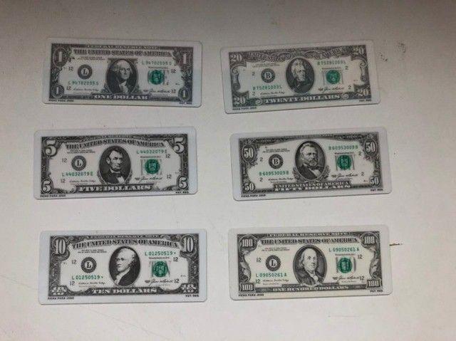Fichario Para Poker Exclusivo - Fichas Em Forma De Dollar - Foto 3