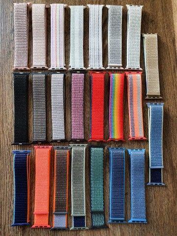 Pulseiras de Velcro Nylon 38 40mm para IWO, Apple Watch e outros Smart watchs  - Foto 2