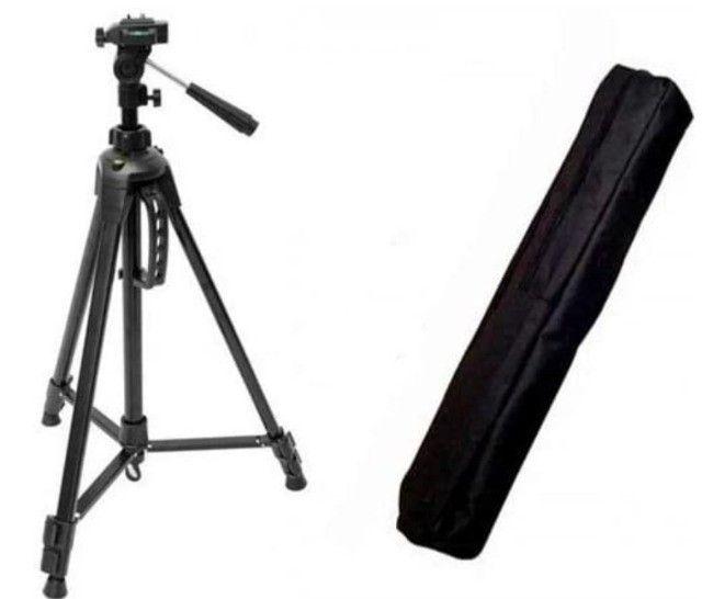 Tripé 1,80m Profissional c/ Bolsa Foto E Video Universal 3kg De Carga - Foto 2
