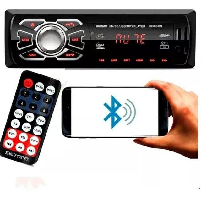 Auto Radio Automotivo Bluetooth<br>Mp3 Player Usb Sd Som Carro - Foto 2