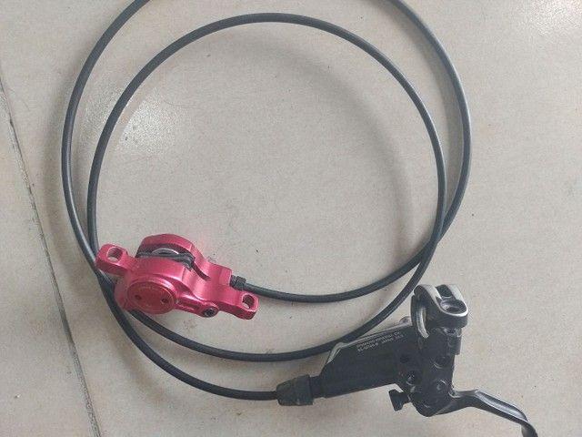 Manete de freio Shimano XT hidráulico - Foto 4
