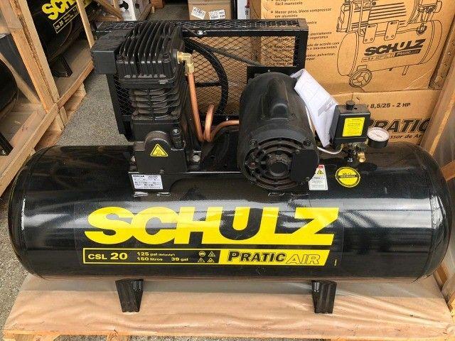 Compressor de Ar Pratic Air CSL 20/150 Monofásico - Schulz - Foto 6