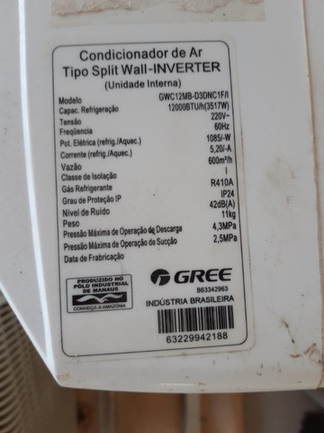 Vendo ar-condicionado GREE inverter 12.000 btus - Foto 2