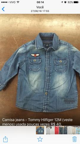 Camisa jeans Tommy H. 12M