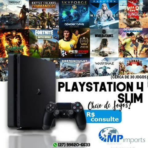 Playstation 4 Slim Novo Lacrado 1 ano garantia console/ Loja Opção 12x