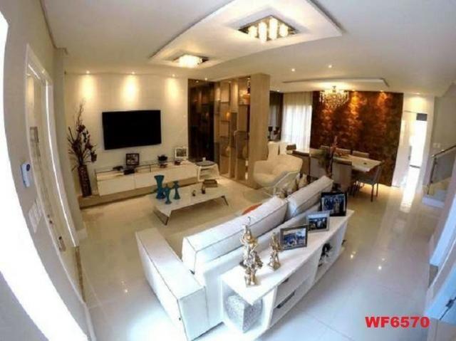 Casa duplex, 3 suítes, 5 vagas, projetada, mobiliada, casa nova, lago Jacarey - Foto 6