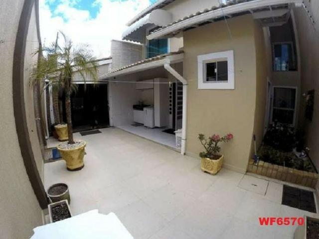 Casa duplex, 3 suítes, 5 vagas, projetada, mobiliada, casa nova, lago Jacarey - Foto 10