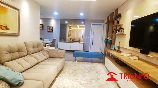 (HN) Apartamento de 137m² no Papicu - Todo Projetado - Ventilado - 3 quartos - Dce -2 vgs - Foto 3